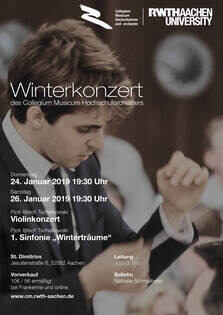 Poster for Orchestra Concerts Winter 2019